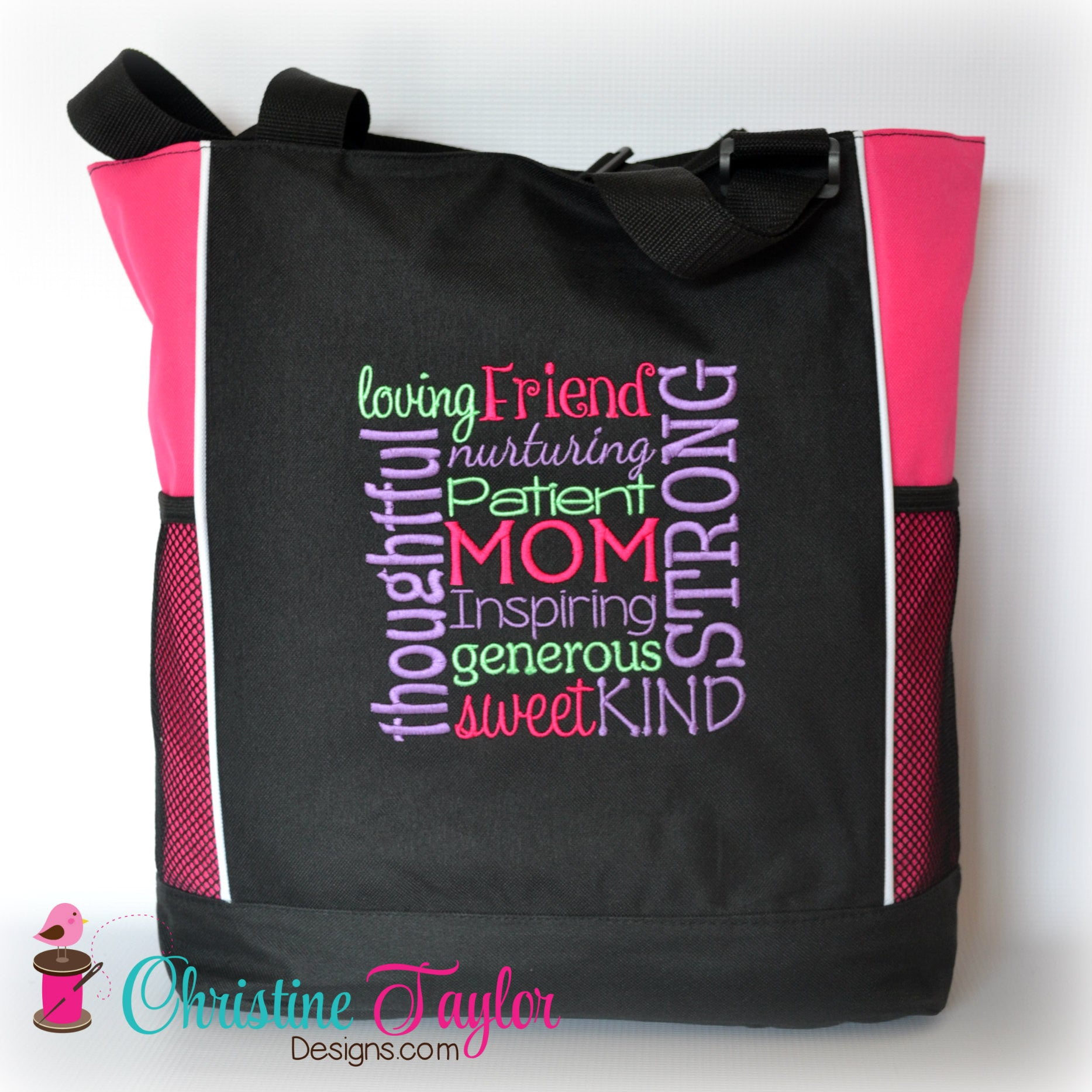 Mom themed Tote Bag with zipper - Christine Taylor Designs