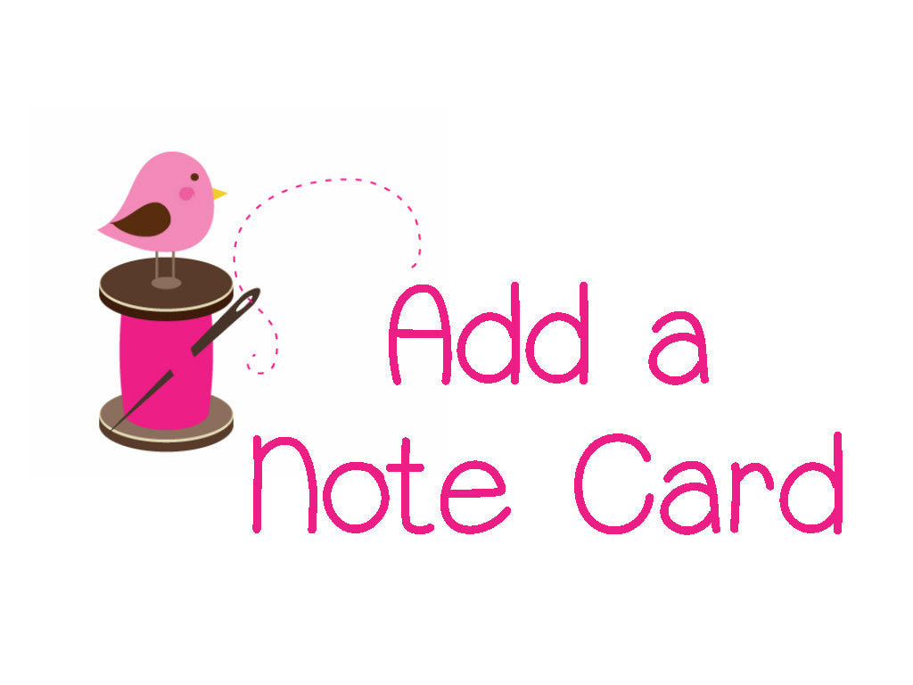 Note Card Add On.