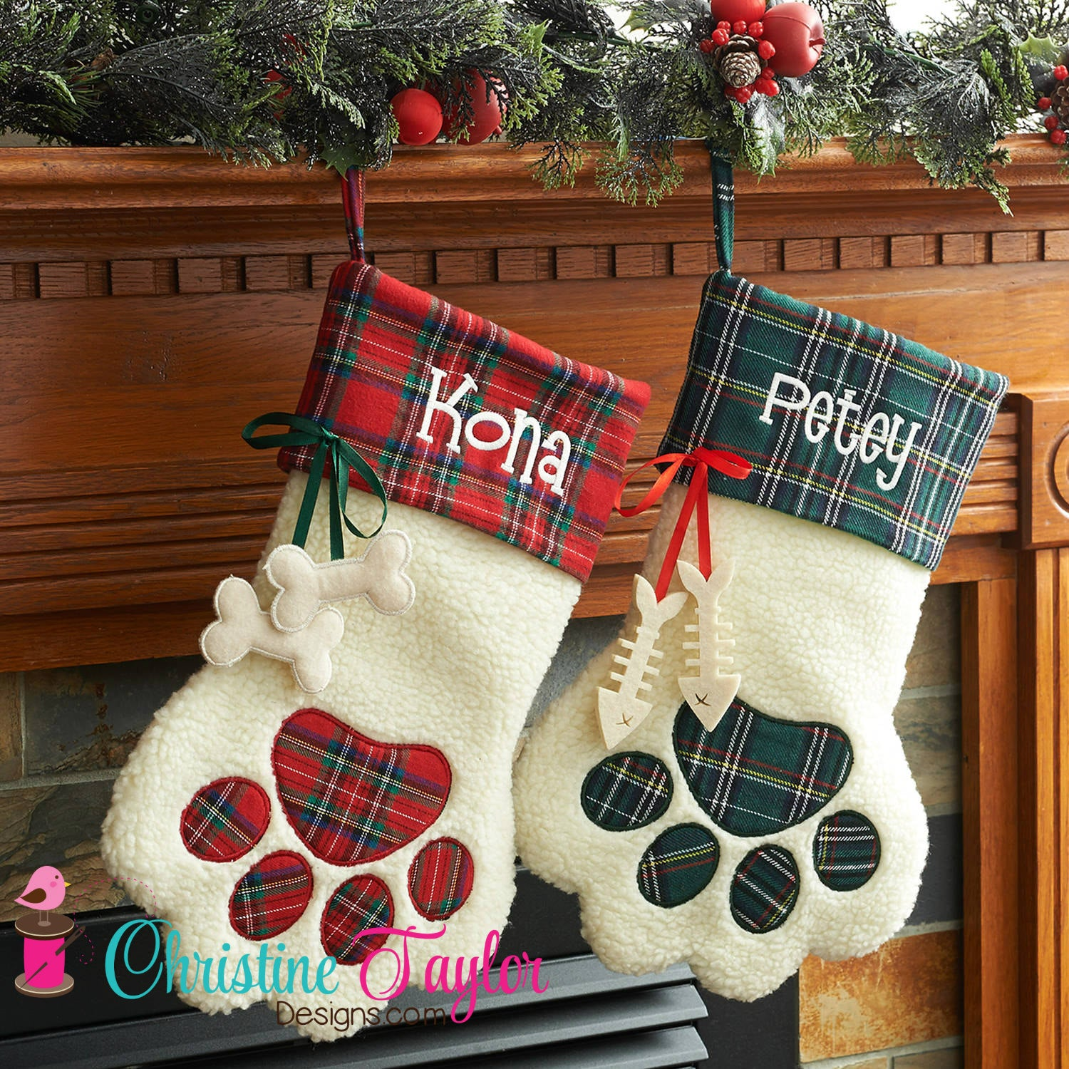 Cat or Dog Stockings - NEW for 2017 - Christine Taylor Designs