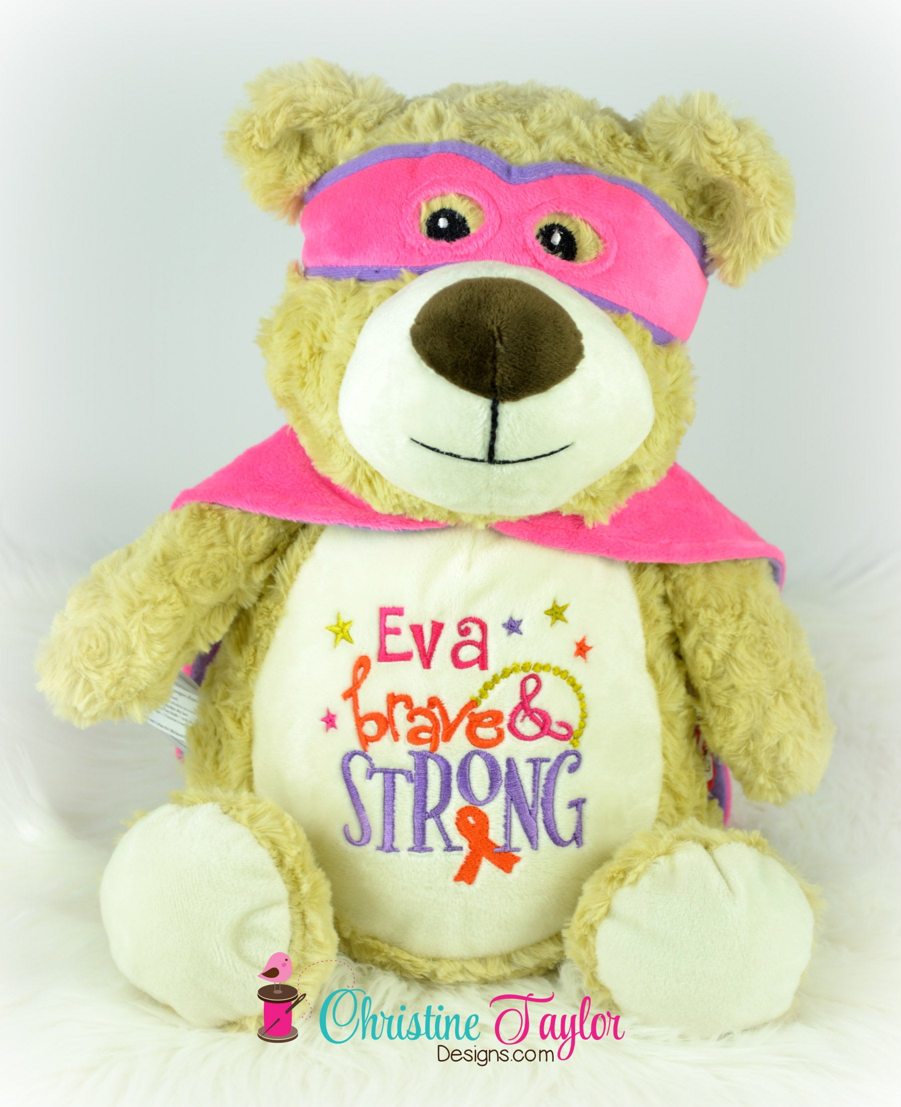 Hero Bear - pink and purple