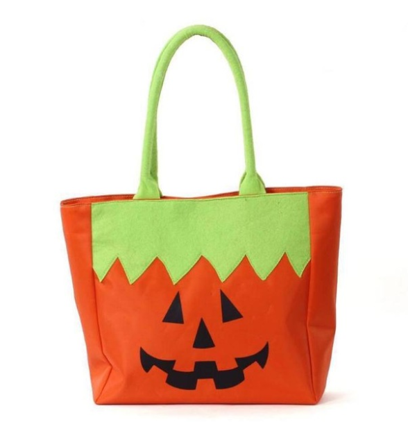 Trick-or-Treat Jonny the Jack-O-Lantern Character Tote Monogrammed Tote Halloween Personalized Tote Character Tote Embroidered Tote