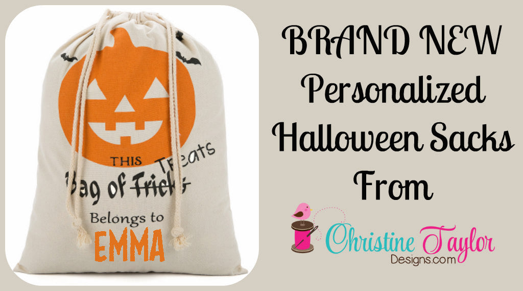 Personalized Halloween Sack - Pumpkin design