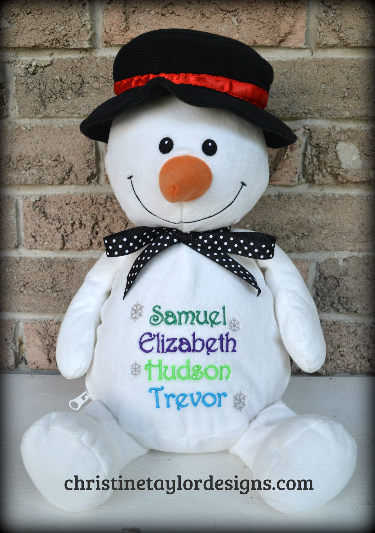 Holiday Snowman with top hat - Christine Taylor Designs