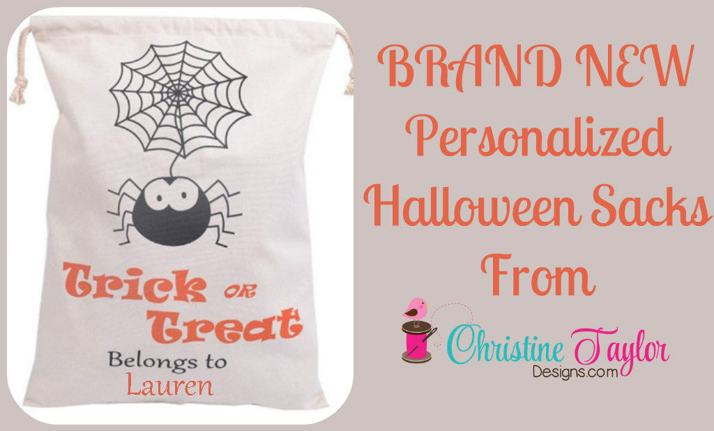 Personalized Halloween Sack - Spider Design