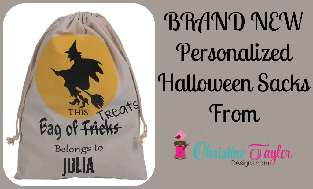 Personalized Halloween Sack - Witch design
