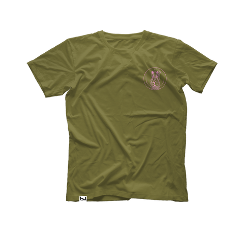 Hyperdub Army Shirt, Pink Third Ear Cat Logo