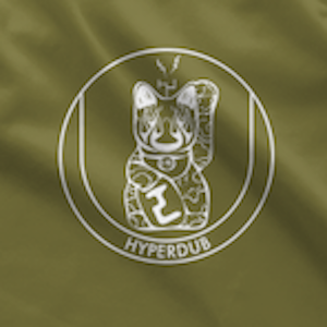 Hyperdub Army Shirt, White Third Ear Cat Logo
