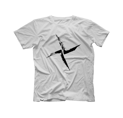 White Burial Large Front Logo T-Shirt