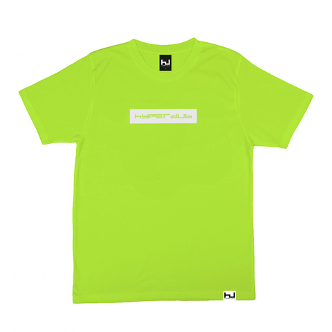 Hyperdub Dayglo Yellow with white Hyperdub Logo