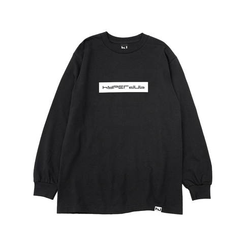 Hyperdub Logo Black Long Sleeve Tee