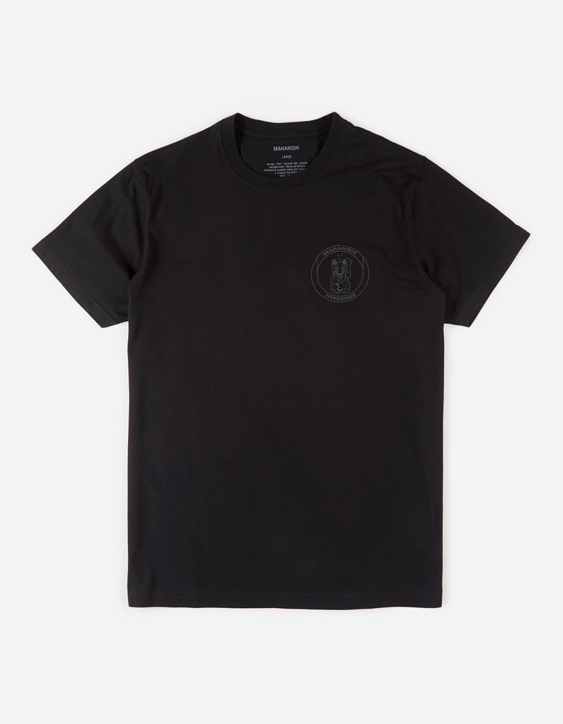 Maharishi x Hyperdub 3rd Ear Cat T-Shirt - Black