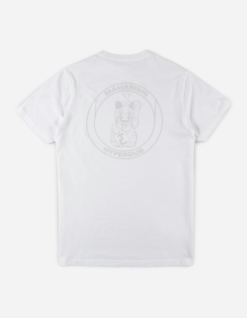 Maharishi x Hyperdub 3rd Ear Cat T-Shirt - White