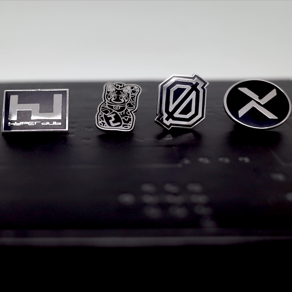 Hyperdub Pin badges, set of Four