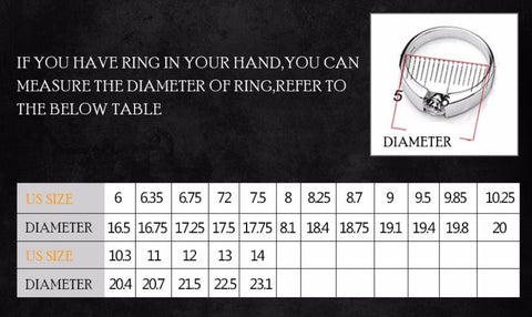Women's Skull Ring Rhodium Plated Princess cut 10mm Black Zircon Zircon Women's Wedding Ring Punk Jewelry
