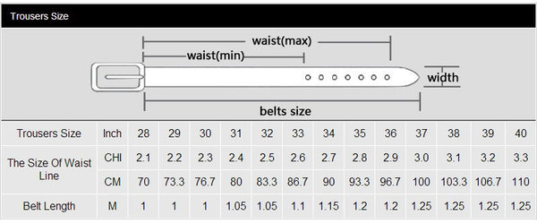 Genuine Leather belts for men High quality metal pin buckle jeans belt mens belts luxury