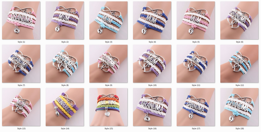 Description: Item Type:Bracelets Style:Trendy Gender:Unisex Setting Type:Prong Setting Material:Leather Chain Type:Rope Chain Length:16cm+5cm(extend chain) Clasp Type:Lobster Metals Type:Zinc Alloy Shape\pattern:Cross Bracelets Type:Charm Bracelets Style:Charms Pendants Item Useage: DIY jewelry.