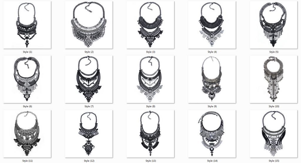 Big Women Collier Femme Necklaces Pendant Collar Statement Bijoux Fashion Crystal Jewelry Choker Maxi Boho Vintage Jewellry