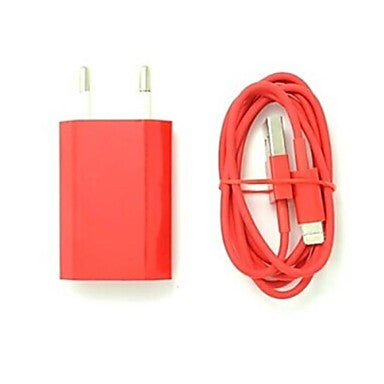 Colorful EU Plug AC Wall Charger
