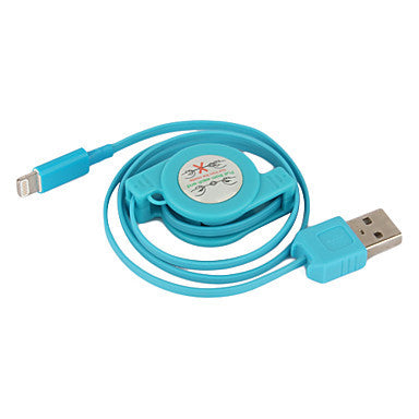 Colorful Apple 8 Pin Retractable Charge and Sync Cable for iPhone 5,iPad Mini,iPad 4 (75cm-Length)
