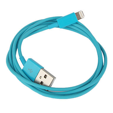 8 Pin Colorful Charge and Data Flat Cable for iPhone 6 iPhone 6 Plus iPhone 5, iPad Mini,iPad4,iPod(100cm-Length)