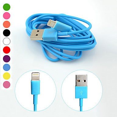 8Pin Colorful Charge and Data Cable for iPhone 6 iPhone 6 Plus iPhone 5,iPadMini,iPad4,iPod(200cm-Length)