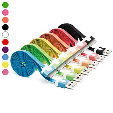 1M Colorful 10 Colors Flat Noodles USB Charger