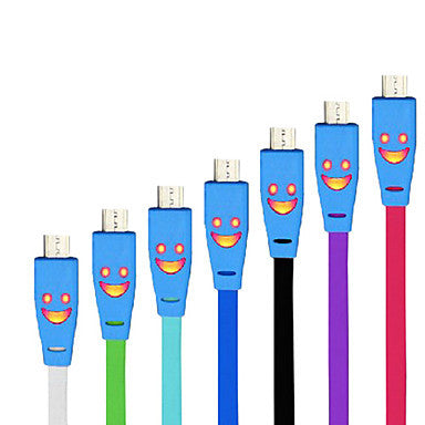 Smile Face Micro USB Cable for Samsung Mobide Phone