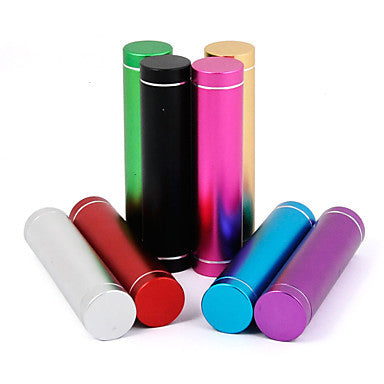 2600 mAh Universal Power Bank External Battery Q7-2600 iphone iPad/Samsung/Smartphones mobile devices (Assorted Colors)