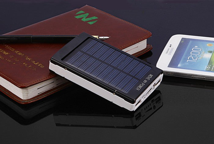30000mAH Solar Charger 2 Port External Battery Pack Power Bank