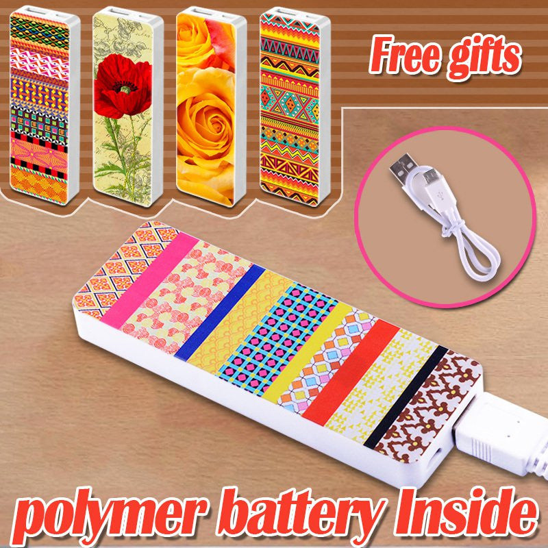 Portable Power Bank 3800mah & polymer USB External Power Supply Rechargeable Battery Power Pack Backup Charger for Phones