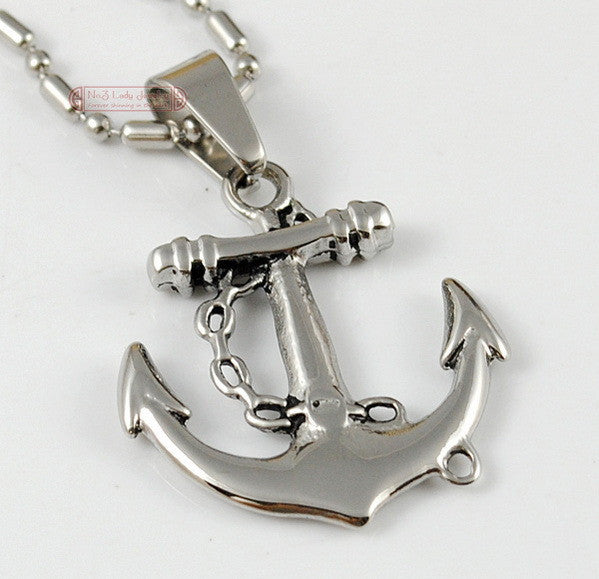 Fashion Pirate Jewelry, 316L Stainless Steel Anchor Pendant Necklace For Men&Women Jewelry