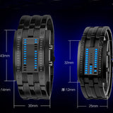 Unisex Black Dial Metal Band Quartz Analog Water Resistant Sport Wrist Watch