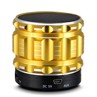 Mini Bluetooth Speakers Metal Steel Wireless Smart Hands Free Speaker With FM Radio Support SD Card For iPhone