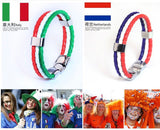 World Cup Theme Bacelets-Bangles Fashion Jewelry Sporty PU Leather Bracelet For Men and Women