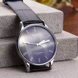 Roman numeral PU Leather Stainless steel water resist Quartz Couple watch men watches