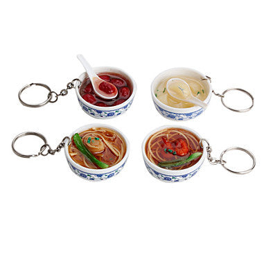 Soup Noodle Shaped Keychain (Random Colors)