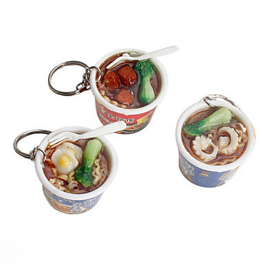 Instant Noodles Shaped Keychain