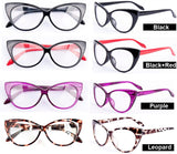 Cute Vintage Classical Eyeglasses Leopard Red Black Cat Eyes Eyeglasses Design Glasses