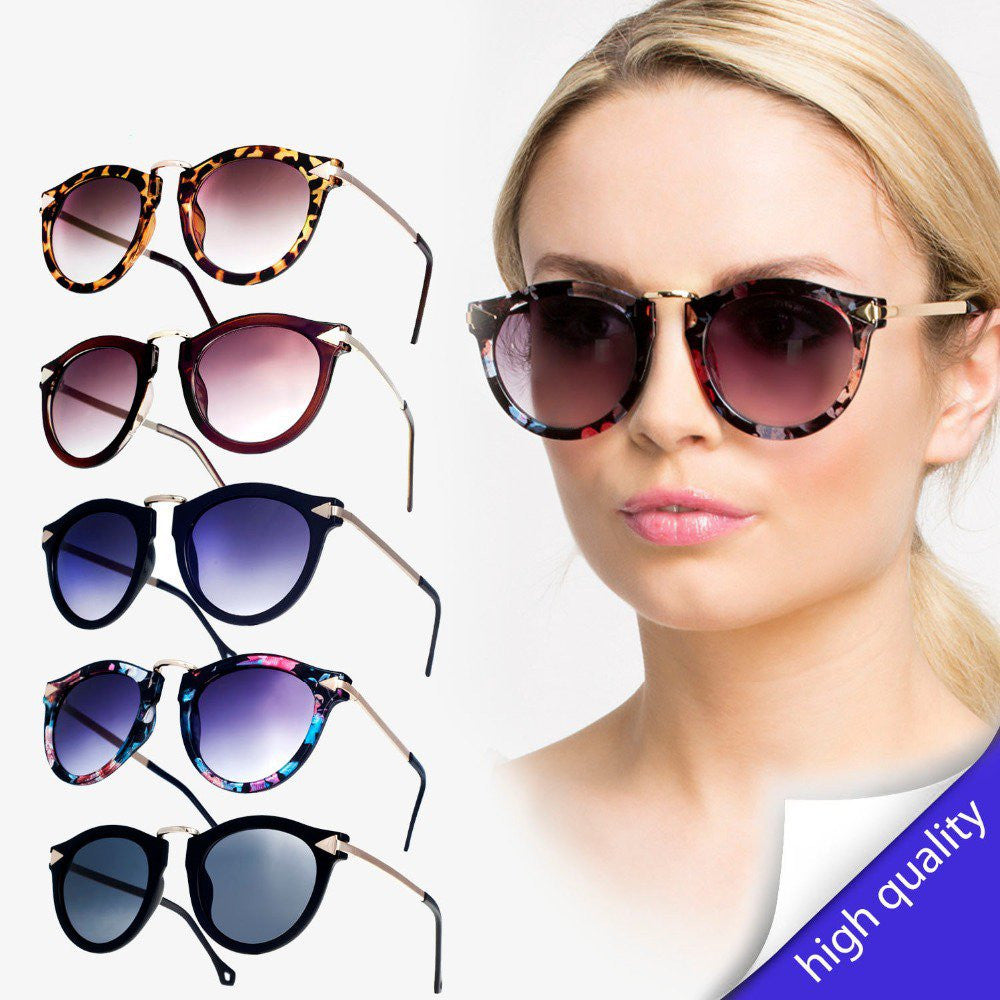 Round shape metal arrow vintage sunglasses high quality New Brand Designer Women Sunglasses