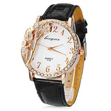 Women's Watch Fashion 3D Flower Pattern Dial