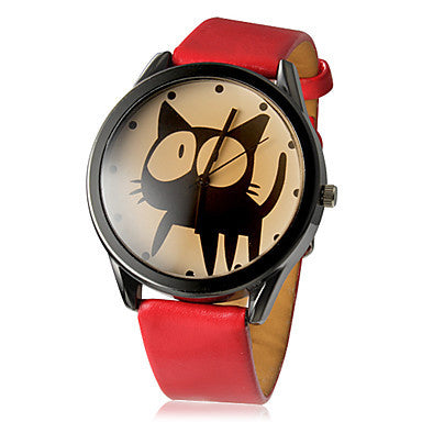 Women's Watch Fashion Kitten Pattern