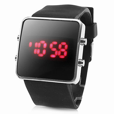 Fashion Mirror LED Watches Unisex Quartz watch Dress Woman and Man Sports watches Analog Steel Case