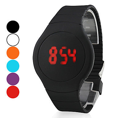 Men's Watch Touch Screen Calendar Red LED Digital