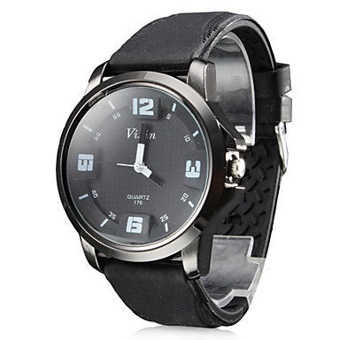 Men's Silicone Analog Quartz Wrist Watch