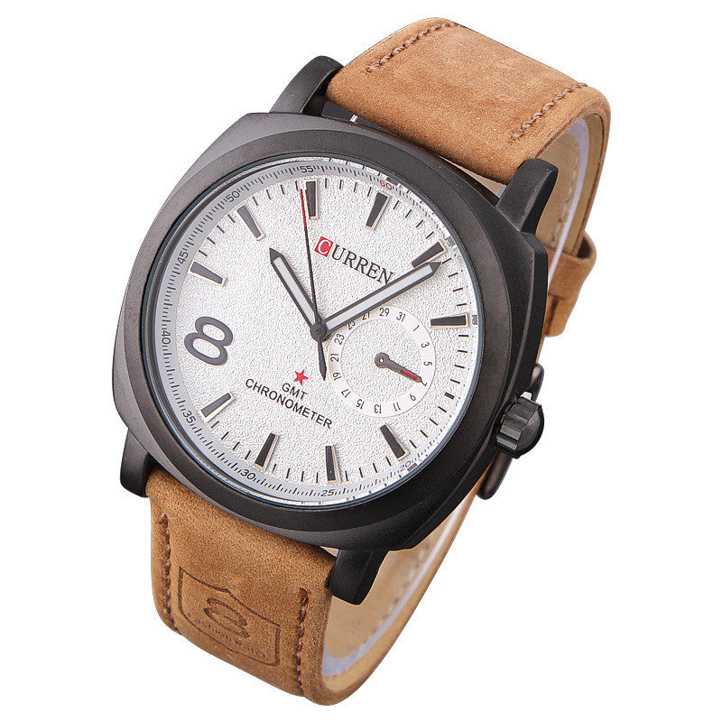 Fashion Business Quartz watch Men sport Watches Military Watches Men Corium Leather Strap army wristwatch
