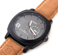 Men Fashion Business Quartz watch Men sport Watches Military Watches Men Corium Leather Strap army wristwatch