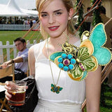 Fashion vintaged Double butterfly pendant necklace Statement jewelry for women