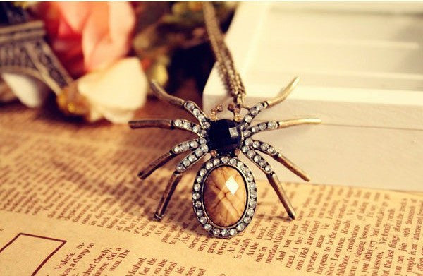 Fashion vintage personality spider necklace