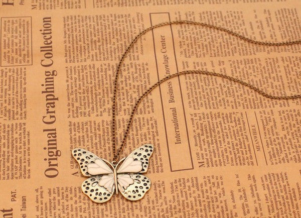 Fashion vintage butterfly necklace