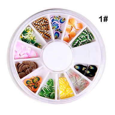 12x 3D Different Shaped Nail Art Decoration